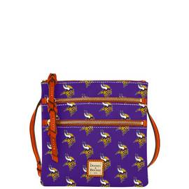 Vikings Triple Zip Crossbody