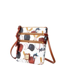 Marlins N S Triple Zip Crossbody
