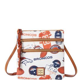 Broncos N S Triple Zip Crossbody