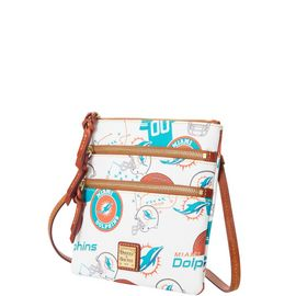 Dolphins N S Triple Zip Crossbody product Hover