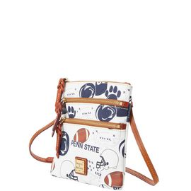 Penn State N S Triple Zip Crossbody