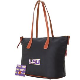 LSU Top Zip Tote