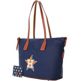 Astros Top Zip Tote w ID Holder