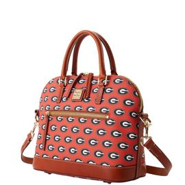 Georgia Domed Zip Satchel product Hover