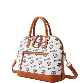 Texas A&M Domed Zip Satchel product Hover