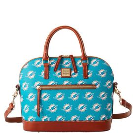 Dolphins Domed Zip Satchel product