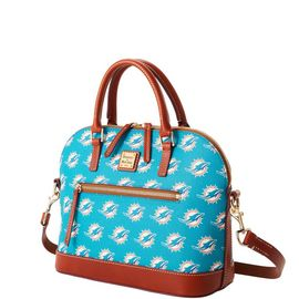 Dolphins Domed Zip Satchel product Hover