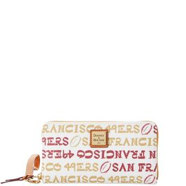 49ers Large Zip Around Wristlet