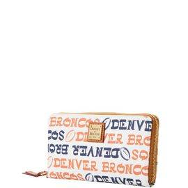 Broncos Large Zip Around Wristlet