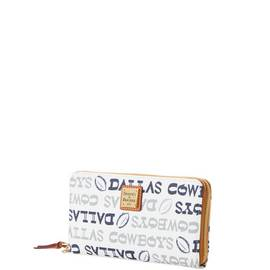Cowboys Large Zip Around Wristlet