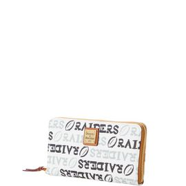 Raiders Large Zip Around Wristlet