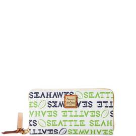 Seahawks Large Zip Around Wristlet