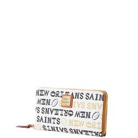 Saints Large Zip Around Wristlet