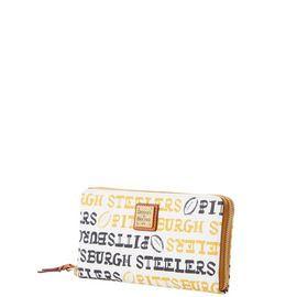 Steelers Large Zip Around Wristlet