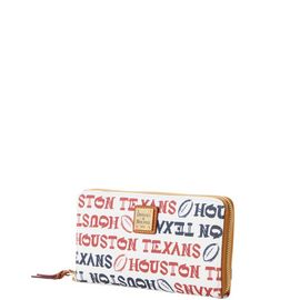 Texans Large Zip Around Wristlet