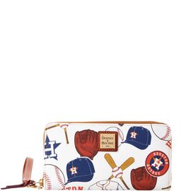 Astros Large Zip Around Wristlet product