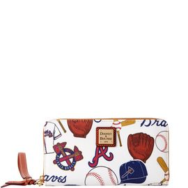 Braves Large Zip Around Wristlet product