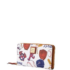 Braves Large Zip Around Wristlet product Hover