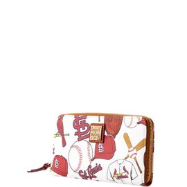Cardinals Large Zip Around Wristlet product Hover
