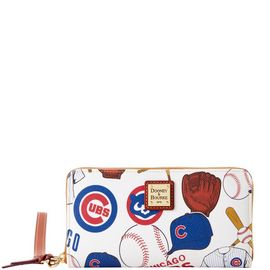 Cubs Large Zip Around Wristlet