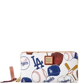 Dodgers Large Zip Around Wristlet product