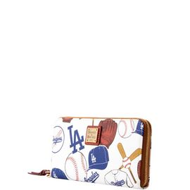 Dodgers Large Zip Around Wristlet product Hover