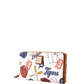 Tigers Large Zip Around Wristlet product Hover