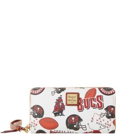 Buccaneers Large Zip Around Wristlet