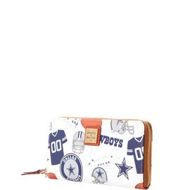 Cowboys Large Zip Around Wristlet product Hover
