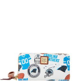 Panthers Large Zip Around Wristlet product