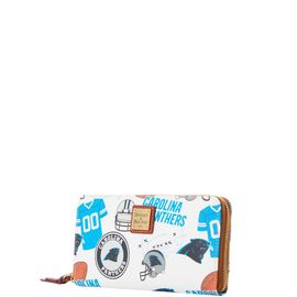 Panthers Large Zip Around Wristlet product Hover