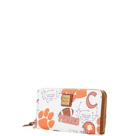 Clemson Large Zip Around Wristlet product Hover