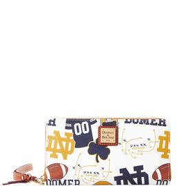 Notre Dame Large Zip Around Wristlet product