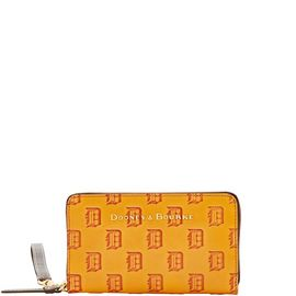 Tigers Large Zip Around Phone Wristlet