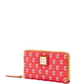 Indians Zip Around Phone Wristlet