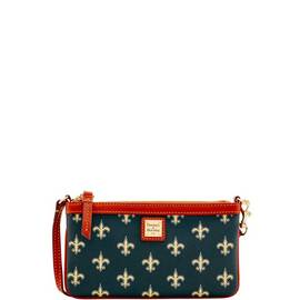 Saints Large Slim Wristlet